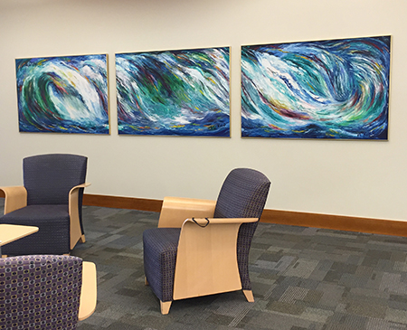 Triptych in the Elmhurst Library